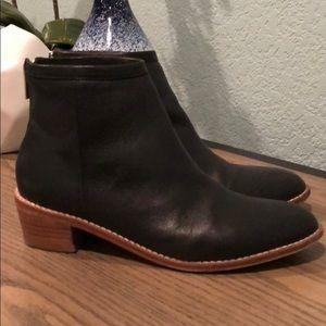 Loeffler Randall Felix black leather boots Sz 7.5